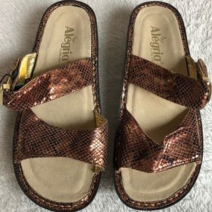 Algeria Karmen Richies two straps leather sandals